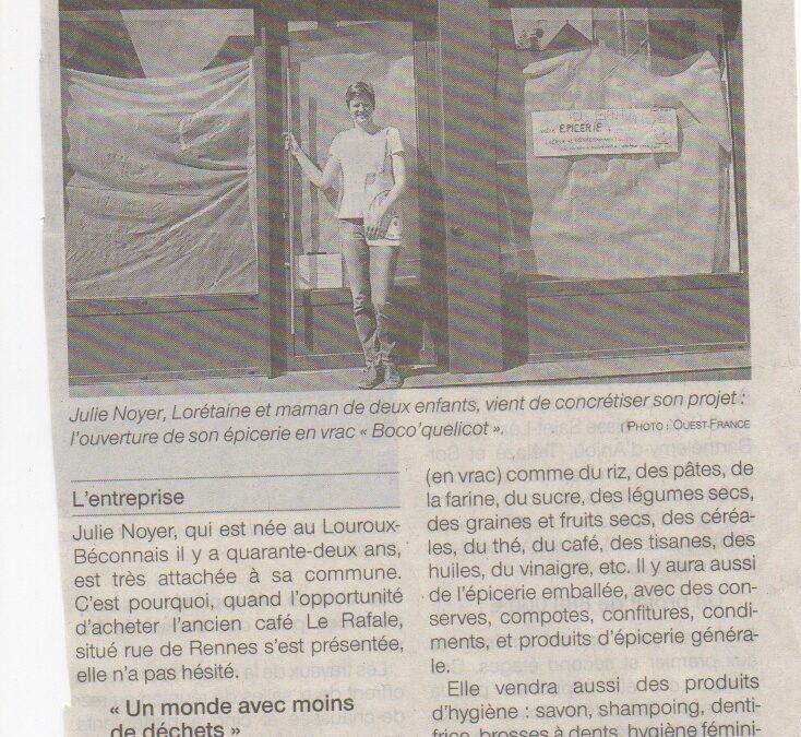Nouvelle épicerie au Louroux-Béconnais